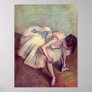 Edgar Degas - Dancer 1881-83 Ballet Stretch pastel Poster