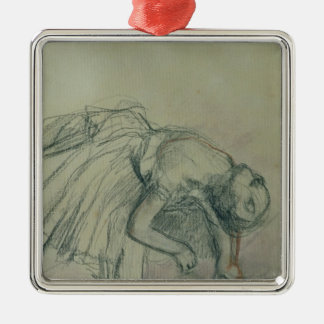 Edgar Degas | Dancer Fixing her Slipper, c.1865 Metal Ornament