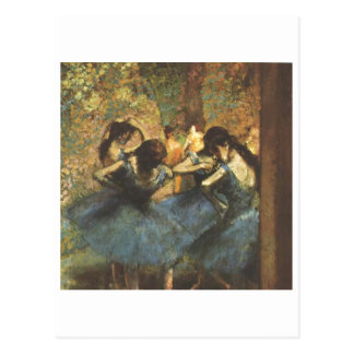Edgar Degas - Dancer in Blue Ballet Ballerina Tutu Postcard