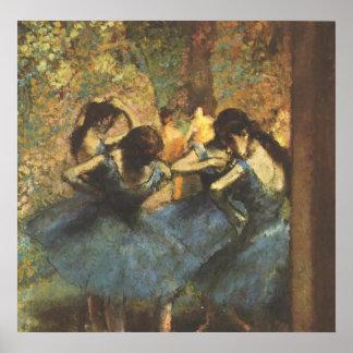 Edgar Degas - Dancer in Blue Ballet Ballerina Tutu Poster