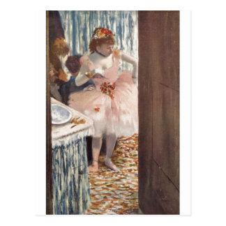 Edgar Degas - Dancer in her Box 1879 Ballerina Postcard