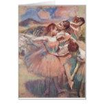 Edgar Degas - Dancer in Landscape 1897 Pink Girls Card