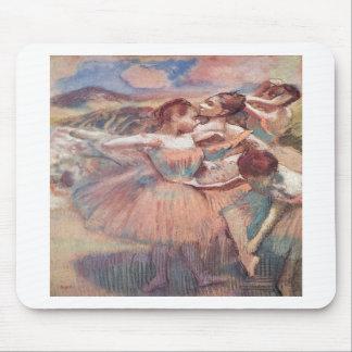Edgar Degas - Dancer in Landscape 1897 Pink Girls Mouse Pads
