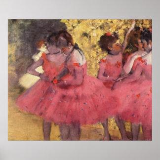 Edgar Degas - Dancer in Pink in Wing 1884 oil Poster