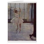 Edgar Degas - Dancer @ Photographer 1877-78 oil Greeting Cards