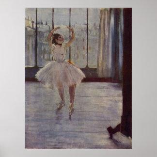 Edgar Degas - Dancer @ Photographer 1877-78 oil Poster