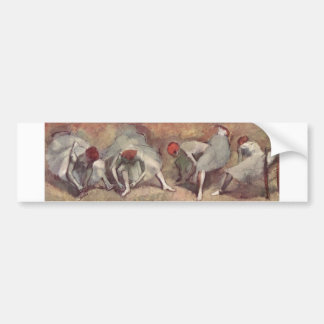 Edgar Degas - Dancer Shoe Bound 1893-98 redhead Bumper Sticker