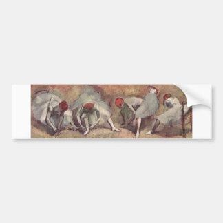 Edgar Degas - Dancer Shoe Bound 1893-98 redhead Car Bumper Sticker