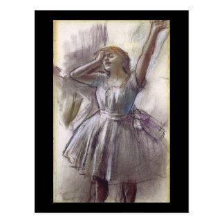 Edgar Degas Dancer Stretching Postcard