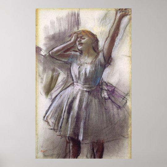 Edgar Degas Dancer Stretching Poster