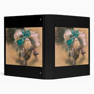 Edgar Degas Dancer Tying Her Shoe Ribbons 3 Ring Binder