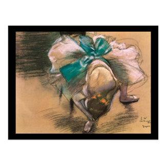 Edgar Degas Dancer Tying Her Shoe Ribbons Postcard