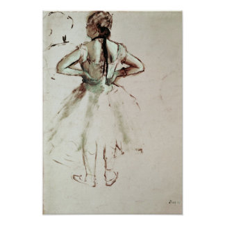 Edgar Degas | Dancer viewed from the back Poster