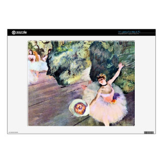Edgar Degas - Dancer with a bouquet of flowers (Th Decal For Laptop