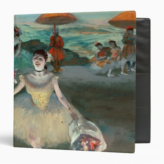 Edgar Degas | Dancer with bouquet, curtseying 3 Ring Binder