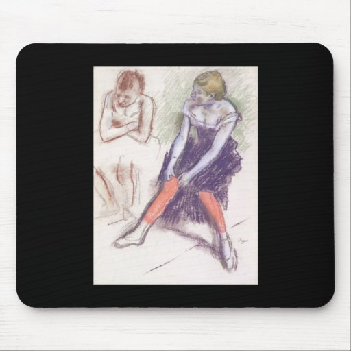 Edgar Degas Dancer With Red Stockings Mouse Pad
