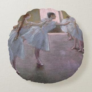 Edgar Degas | Dancers at Rehearsal, 1875-1877 Round Pillow