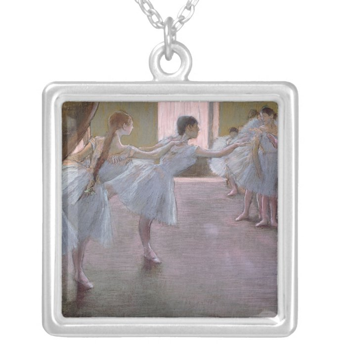 Edgar Degas | Dancers at Rehearsal, 1875-1877 Silver Plated Necklace