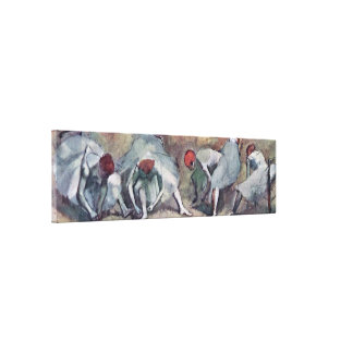 Edgar Degas - dancers her shoes bound Gallery Wrap Canvas