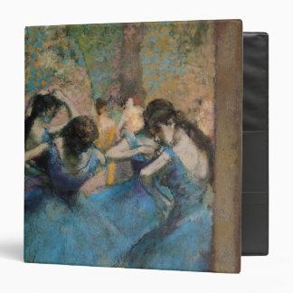 Edgar Degas   Dancers in blue, 1890 3 Ring Binder