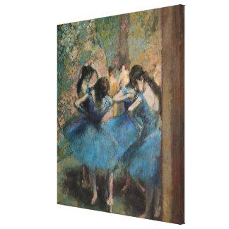 Edgar Degas | Dancers in blue, 1890 Canvas Print