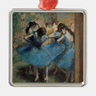 Edgar Degas | Dancers in blue, 1890 Metal Ornament