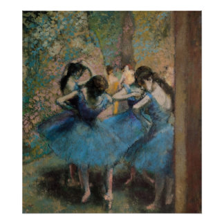 Edgar Degas   Dancers in blue, 1890 Poster