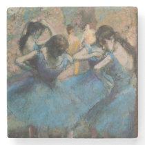Edgar Degas | Dancers in blue, 1890 Stone Coaster
