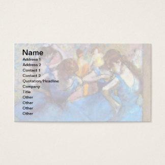 Edgar Degas - Dancers In Blue - Ballet Dance Lover Business Card