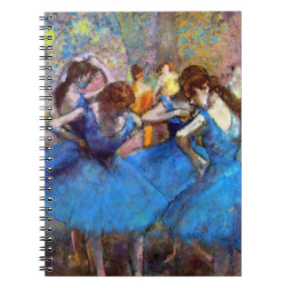 Edgar Degas - Dancers In Blue Spiral Notebook