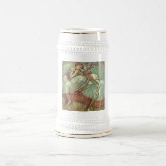 Edgar Degas - Dancers in Green 1898 Ballet Pastel Beer Stein