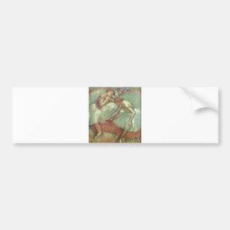 Edgar Degas - Dancers in Green 1898 Ballet Pastel Bumper Sticker