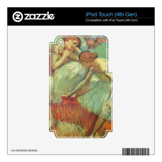 Edgar Degas - Dancers in green iPod Touch 4G Skin