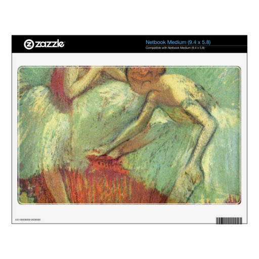 Edgar Degas - Dancers in green Netbook Skin