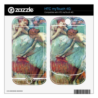 Edgar Degas - Dancers in green HTC myTouch 4G Decal