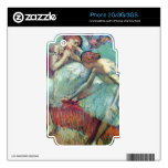 Edgar Degas - Dancers in green Decals For iPhone 3G