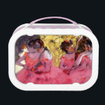 """Edgar Degas - Dancers in Pink - Ballet Dance Lover Lunch Box<br><div class=""""desc"""">Edgar Degas Pink Dancers Before the Ballet. Unlike similar stores, Art Lover&#39;s Cafe features classic, high resolution works of art that have been carefully restored, color-balanced &amp; retouched to remove spots &amp; artifacts commonly found in most reproductions sold online. Compare the quality and vivid colors of the artwork found here...</div>"""