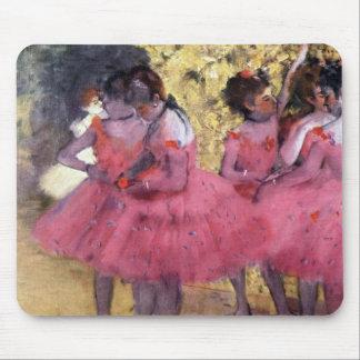 Edgar Degas - Dancers in pink between the scenes Mousepad