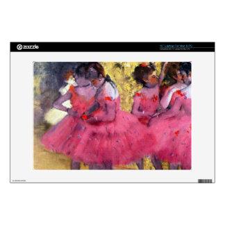 Edgar Degas - Dancers in pink between the scenes Skin For Laptop