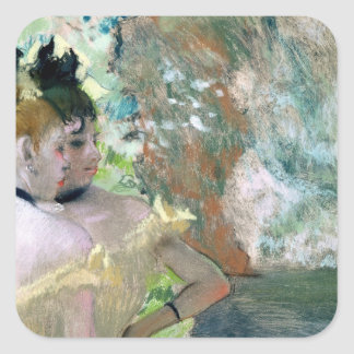 Edgar Degas | Dancers in the Wings Square Sticker