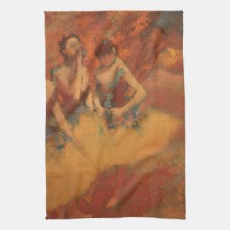 Edgar Degas   Dancers in Yellow Skirts Hand Towels