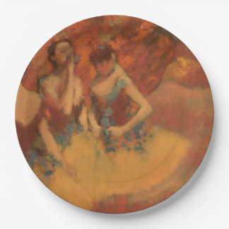 Edgar Degas   Dancers in Yellow Skirts 9 Inch Paper Plate
