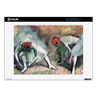 Edgar Degas - Dancers lace their shoes Acer Chromebook Skins