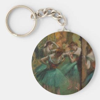 Edgar Degas Dancers Pink and Green Keychain