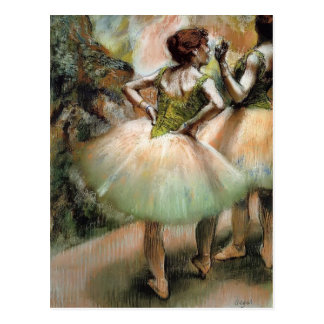 Edgar Degas: Dancers, Pink and Green Postcard
