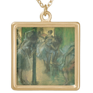 Edgar Degas | Dancers rehearsing Gold Plated Necklace