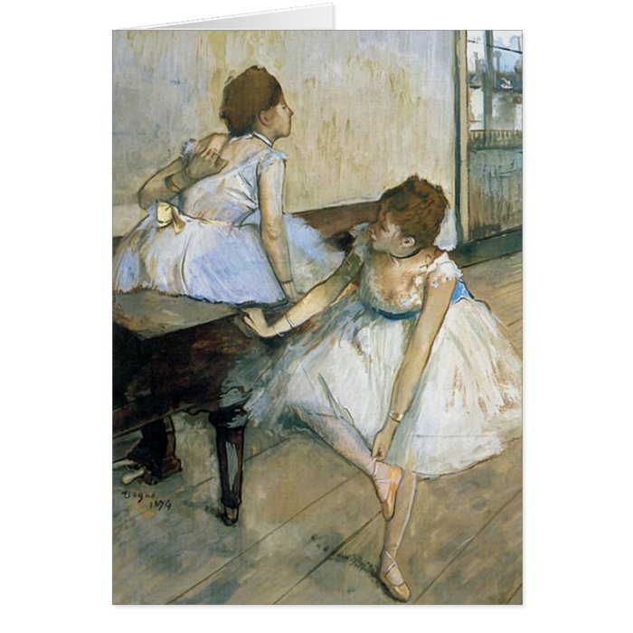 Edgar Degas - Dancers Resting Card