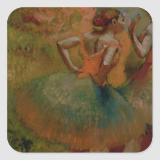 Edgar Degas | Dancers Wearing Green Skirts Square Sticker
