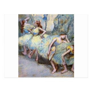 Edgar Degas Danseuses dans les coulisses Post Card
