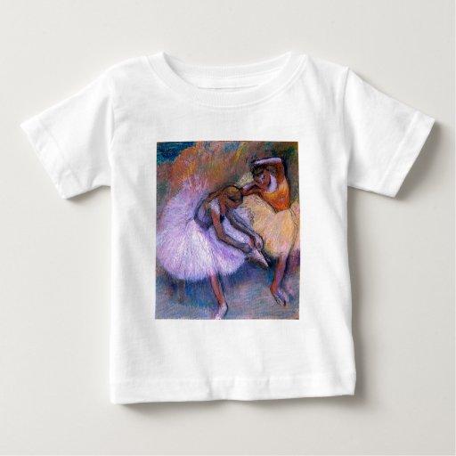 Edgar Degas - danza en colores pastel 1898 del Playera De Bebé